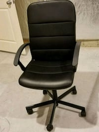 Black Leather Padded swivel chair