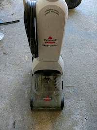 gray and black Bissell upright vacuum cleaner London