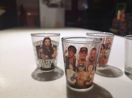 WWE Collectible Shot Glasses