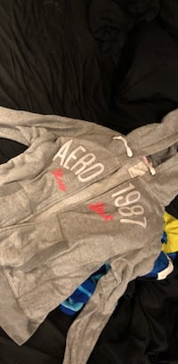 gray and red Aeropostale pullover hoodie Clovis, 93619