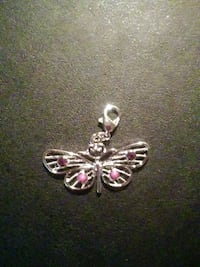 silver and pink gemstone embellished charm. Oklahoma City, 73159