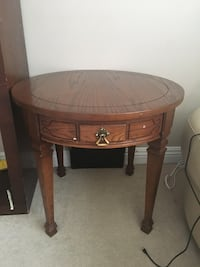 Solid wood side coffee table with drawer  Edmonton, T6V 1Y1