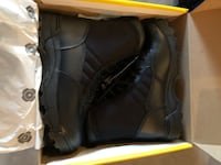 pair of black leather boots in box Calgary, T3Z 0X5