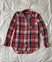 Red And Blue Plaid Button Up Shirt Pasco, 99301