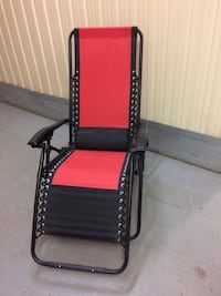 black and red leather padded armchair Montréal, H4C 2Y2