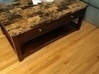 rectangular brown wooden coffee table North Andover, 01845
