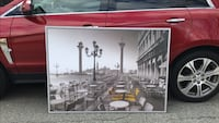 """Beautiful framed Art ready to hang on your wall in excellent condition, measures 55"""" L x 39.5"""" H Vancouver, V5W 2N5"""
