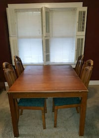 Large Wooden table with four chairs  Decatur, 62526