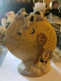 Cow jumped over the moon collector lamp.  Whitby, L1N 8X2