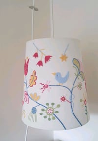 Embroidered Hanging Lamp Shade and Fixture Richmond, V7A 2W5