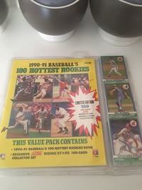 1990-91 BASEBALLS HOTTEST ROOKIES NEW Sealed Limited Edition 100 Card  Charlotte, 28215