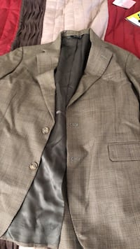 gray notch lapel suit jacket 56 km