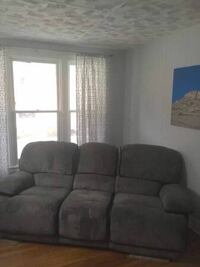 Gray Reclining Couch