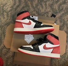 "JORDAN 1 ""GYM RED"" SIZE 9.5"