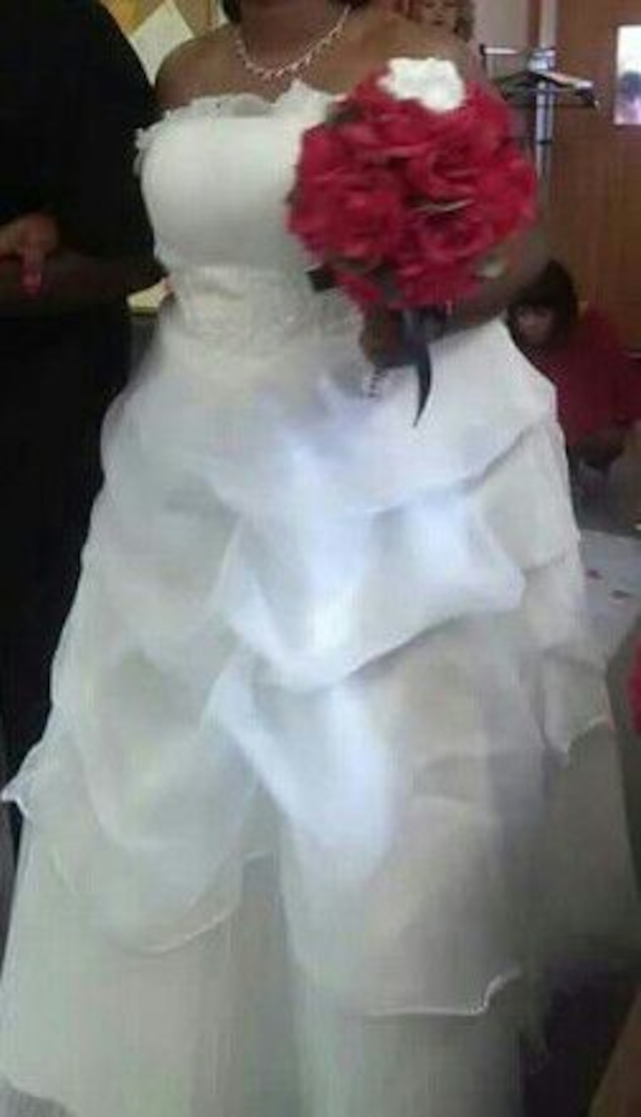 Used Plus size wedding dress and shoes. in Detroit