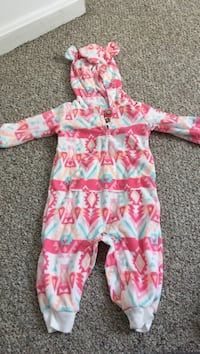 Toddler's pink and multicolored footie pajama 446 mi