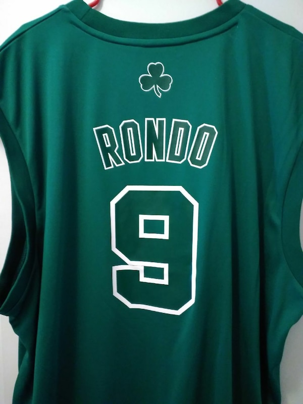 reputable site 674c2 cbb55 Rajon Rondo 9 Boston Celtics jersey top
