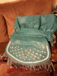 Turquoise blue leather purse Walker, 70785