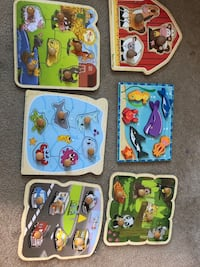 Wooden puzzles each for 5$, all for 24 Fairfax, 22033