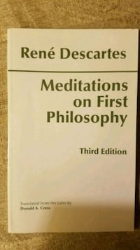 Meditations on First Philosophy by René Descartes  North Brunswick Township, 08902
