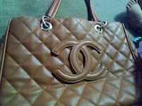 brown Chanel leather tote bag