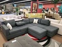 Brand new sectional with ottoman on sale  Brampton, L6R 3L1