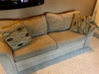 brown fabric 3-seat sofa 2387 mi