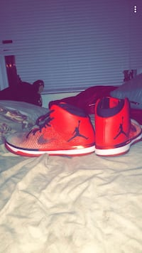 Pair of red-and-white air jordan basketball sneakers screenshot Las Vegas, 89109