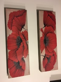 Red floral wall art Toronto, M4Y 1V2