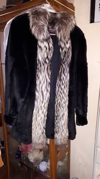 black and gray fur jacket Cambridge, N1S 2N4