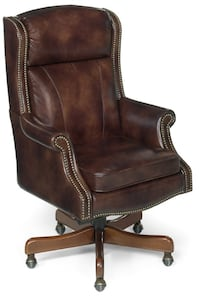 Brand New Empire Leather Hi End Executive Chair by Hooker Furniture IRVINE