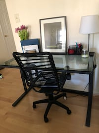 Crate & Barrel Desk & Chair Washington