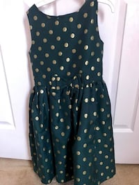 Green and Gold Girl's Dress size 8 ASHBURN