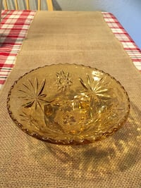 Vintage amber glass 10 point star Citrus Heights, 95621