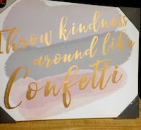 Kindness Confetti  Lighted NEW Frame $65.  Has protective guards.   Reduced -$40Off El Paso, 79936