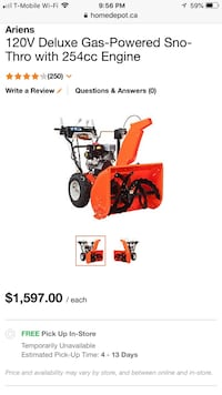 Snowblower - Excellent Condition  Windsor, N9H