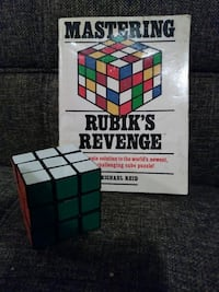Rubiks cube with book
