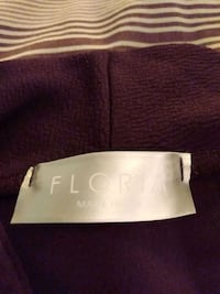 FIORIA WOMEN'S LOOSE FIT...WOTH ONE BUTTON PURPLE S NEW