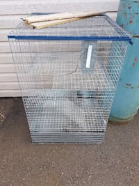 stainless steel and blue pet cage Dieppe, E1A 4X5