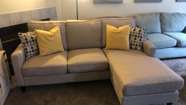 Amazing Grey Sectional Couch Onthecornerstone Fun Painted Chair Ideas Images Onthecornerstoneorg