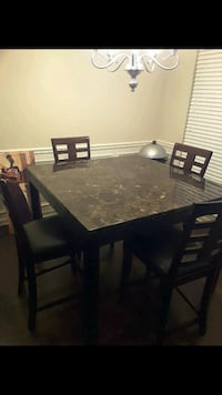 rectangular brown wooden table with six chairs dining set Fayetteville, 30215