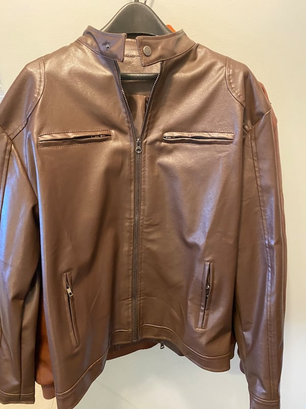 Special Men's XL fall or spring brown motorcycle jacket 224006ba-42a9-45fb-8b3f-5befdb497dfd