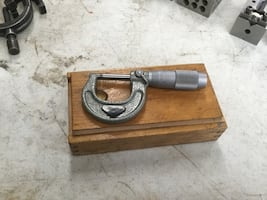 1 inch carbide tipped micrometer made in Poland
