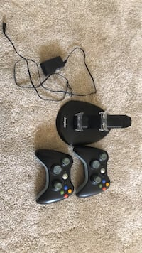 2 Xbox 360 controllers and charging center Perry Hall, 21128