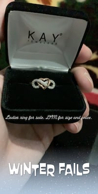 Rose gold and sterling silver Infinity heart ring with diamonds Rockville, 20852