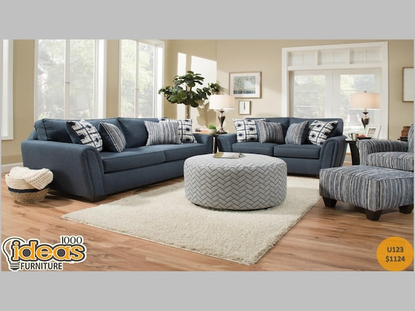 Stupendous Blue Sofa And Loveseat Set Brand New Gmtry Best Dining Table And Chair Ideas Images Gmtryco