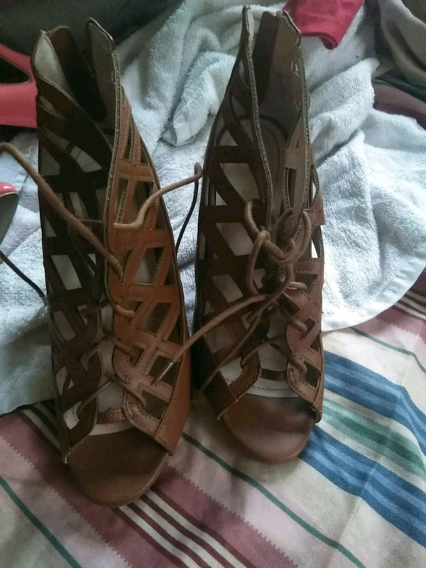 240a8de7ee44 Used pair of brown leather gladiator sandals for sale in Valdosta ...