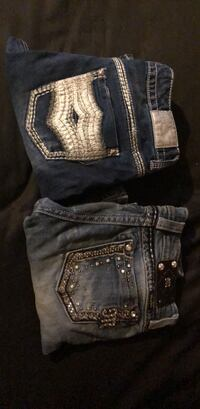 Blue denim miss me jeans 22 for both need gone asap