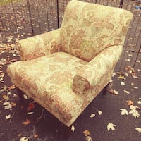 Brown and green floral fabric sofa chair Rocky River, 44116