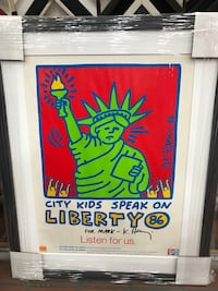 Keith Haring hand signed poster New York, 10010